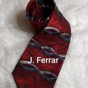 J Ferrar Mens Silk Tie